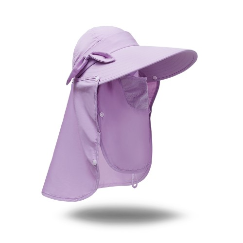Anni Coco Foldable UV Protection mask Hat Detachable Breathable sunhat ,Outdoor Fishing Hat with Face Neck Flap Cover for Women