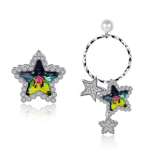 S925 crystals come from swarovski\'s irregular star silver earrings.