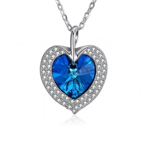 Swarovski heart-shaped silver necklace