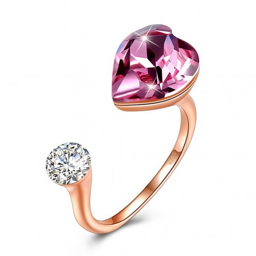 The crystal comes from the swarovski S925 sterling silver heart ring