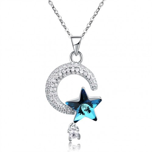 S925 crystal comes from the swarovski star studded with sterling silver necklaces.