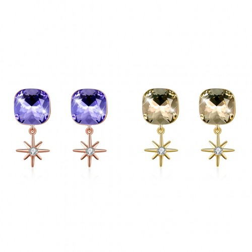 Crystals from swarovski S925 sterling silver Stud earrings