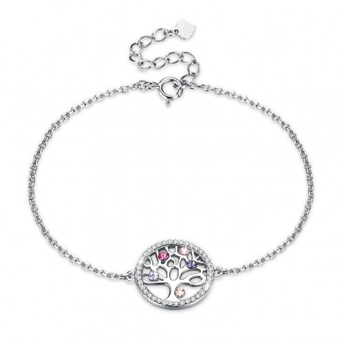 Crystals from swarovski S925 sterling silver color life tree crystal bracelet