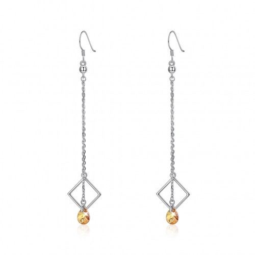 Crystal comes from swarovski\'s long tassel and silver earrings
