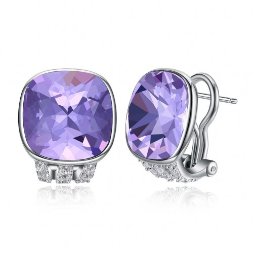 Crystal comes from swarovski\'s multi-colored crystal high-end sterling silver ear clip