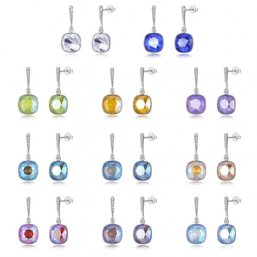 Crystal comes from the swarovski element S925 sterling silver drop earrings