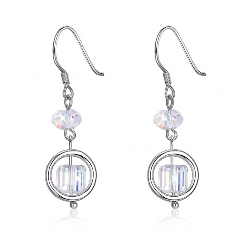 Crystal is from swarovski\'s simple sugar and silver earring