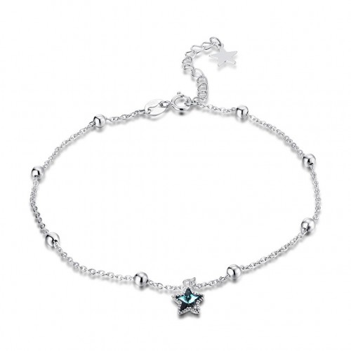 Crystal comes from swarovski element crystal S925 pure silver star chain