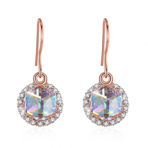 Crystals from swarovski S925 sterling silver sugar double-sided eardrop