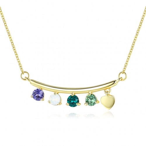 Crystals from swarovski S925 long melange crystal light luxury pendant necklace