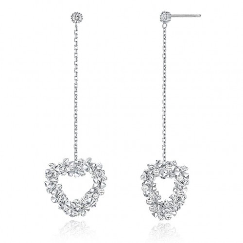 Crystal comes from swarovski\'s heart-shaped, full-length, full-length earring