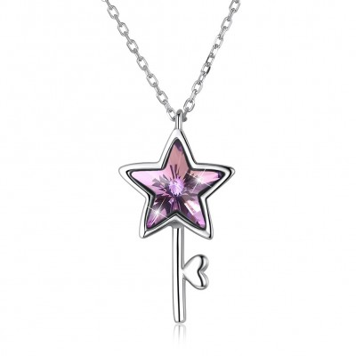 The crystal comes from the swarovski element S925 star necklace