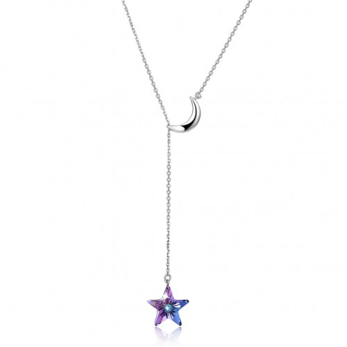 Crystal comes from the swarovski element star slip necklace