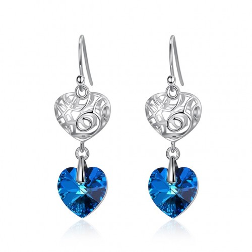 Crystal comes from the swarovski S925 fashionable sterling silver popular earpiece