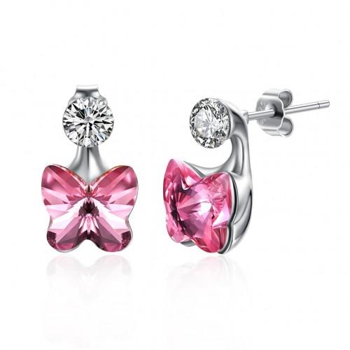 Swarovski crystal S925 butterfly earrings