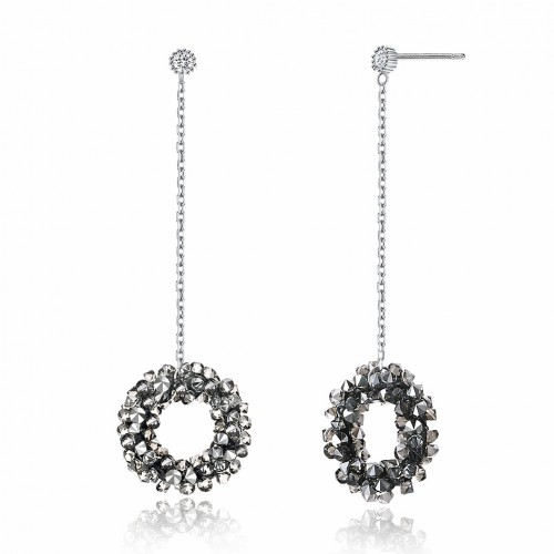 Crystal comes from the swarovski circle full of silver earrings