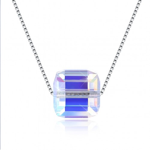 Crystal comes from the swarovski element sugar pendant sterling silver necklace