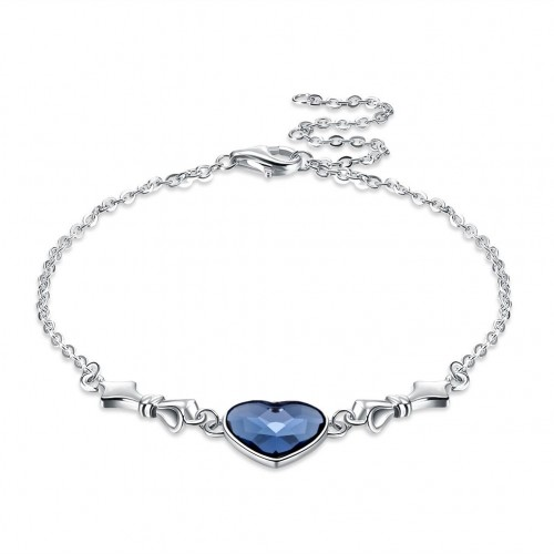 S925 fashion sterling silver comes from the swarovski heart-shaped sterling silver bracelet