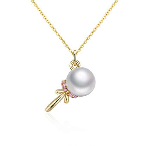 Crystals from swarovski S925 sterling silver pearl irregular sterling silver necklace