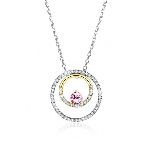 Crystals from swarovski S925 sterling silver ring with a variety of different pendant necklaces