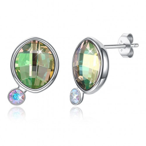 Crystal comes from the swarovski element of the irregular stone S925 sterling silver stud