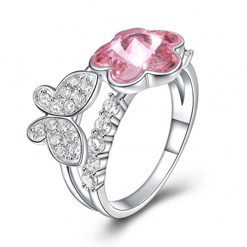The fashion sterling silver ring is from the swarovski element iris ring
