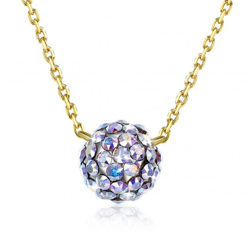 Crystals from swarovski S925 sterling silver crystal ball necklace