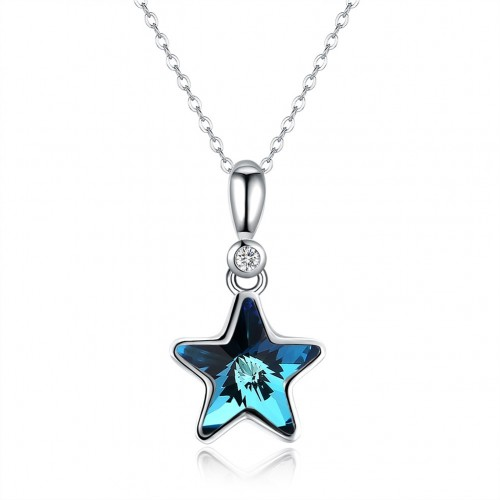 S925 crystal comes from the swarovski star pure silver necklace