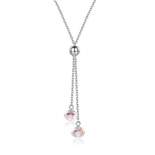 S925 fashion sterling silver from the swarovski element beads pendant sterling silver necklace