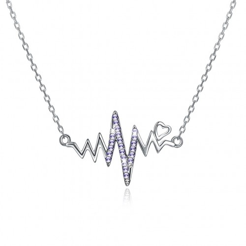 Crystals from swarovski S925 wave pendant necklace