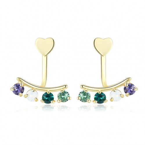 Crystals from swarovski The S925 is made of pure silver with bright colored diamonds and light luxury earrings