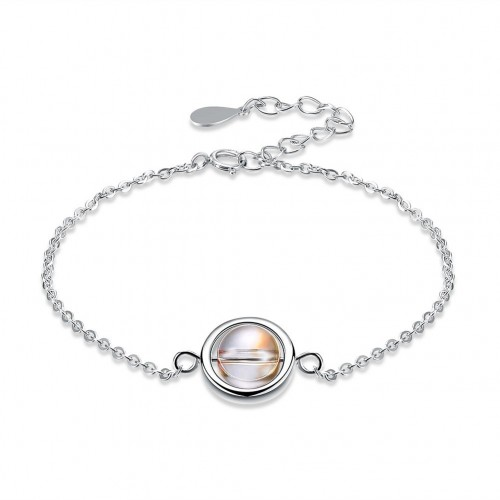 Fashion sterling silver from the swarovski element can be spun round bead pure silver bracelet