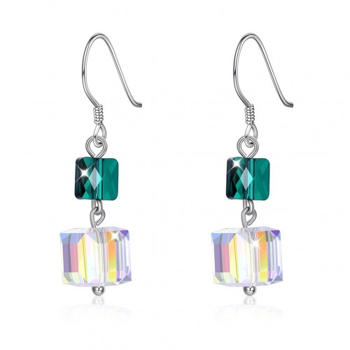 Crystal comes from the swarovski elemental pure silver earrings