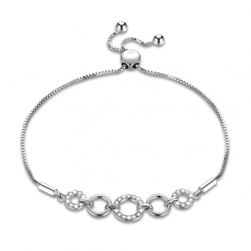 Crystals from swarovski S925 sterling silver simple fashion ring crystal bracelet