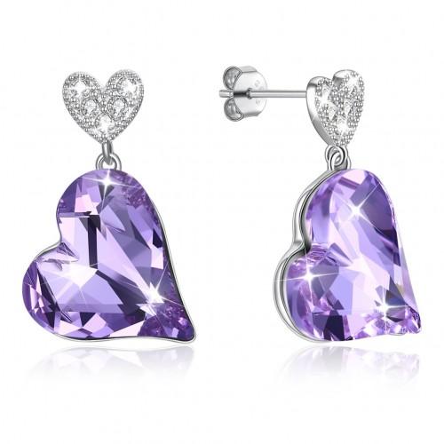 Crystals from swarovski S925 heart lug