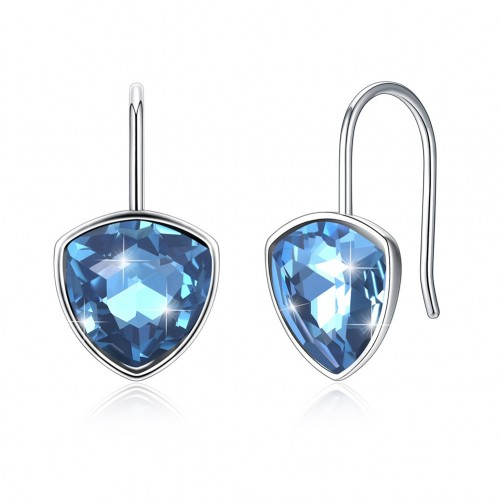 Crystal comes from the swarovski element simple ear hook fashion 925 sterling silver earrings