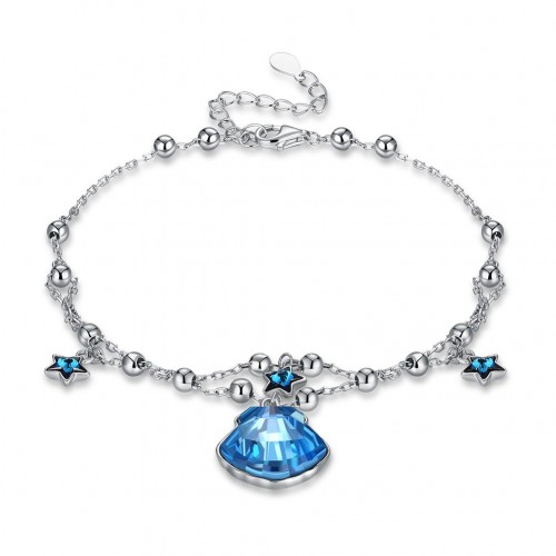 S925 fashion sterling silver bracelet comes from the swarovski shell star shape sterling silver bracelet.