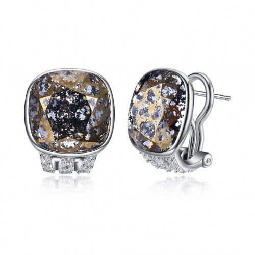 Swarovski crystal elements unique crystal high-end sterling silver ear clip earrings