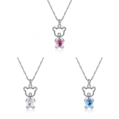 Crystal comes from the swarovski element crystal S925 sterling silver necklace