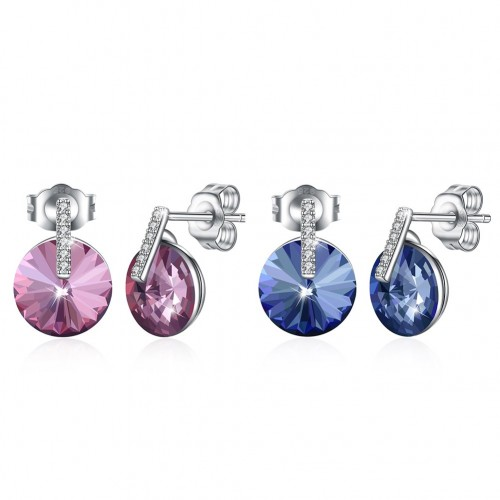Crystal comes from the swarovski element S925 sterling silver pop earrings