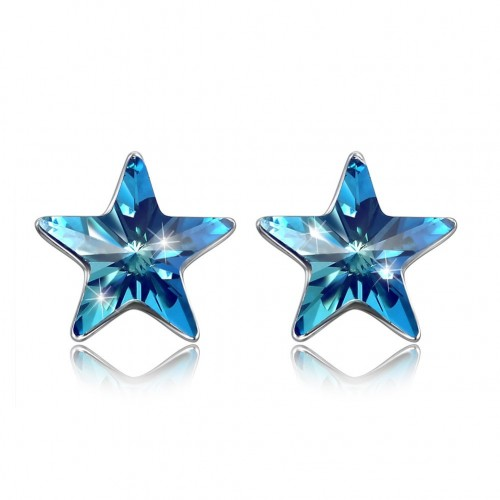 Crystal comes from the swarovski element S925 sterling silver star stud