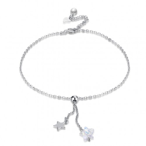 Crystal comes from the swarovski element S925 pure silver star full of pure silver chain