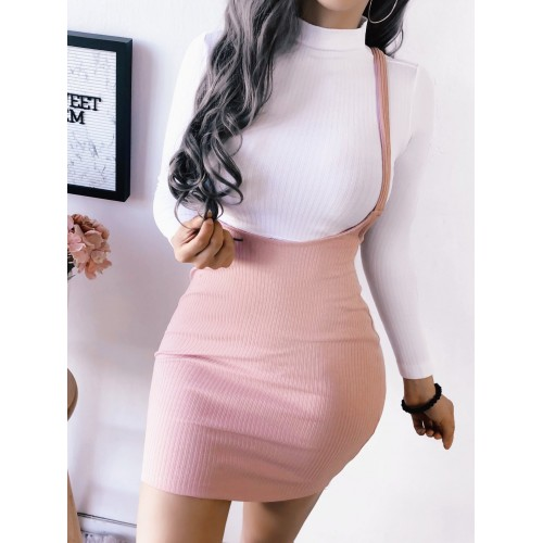 Hot Sale Solid Suspender Skirt For Women