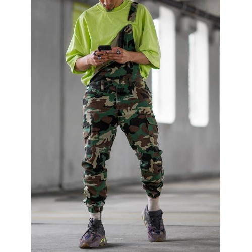 Euro Camouflage Casual Suspender聽Trousers聽