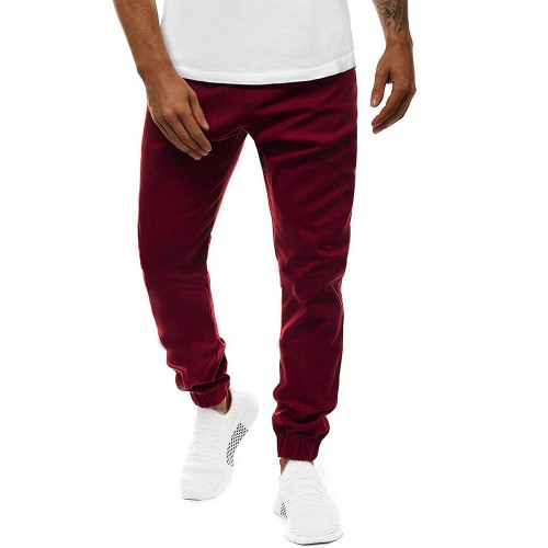 Easy Matching Solid Drawstring Jogger Trousers