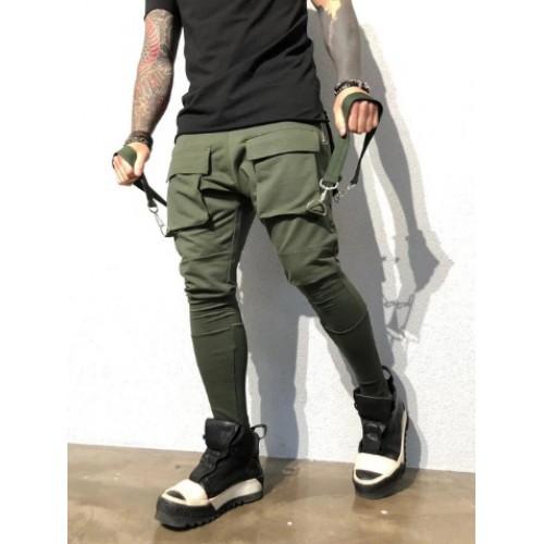 Hip Pop Pockets Men Cargo Trousers