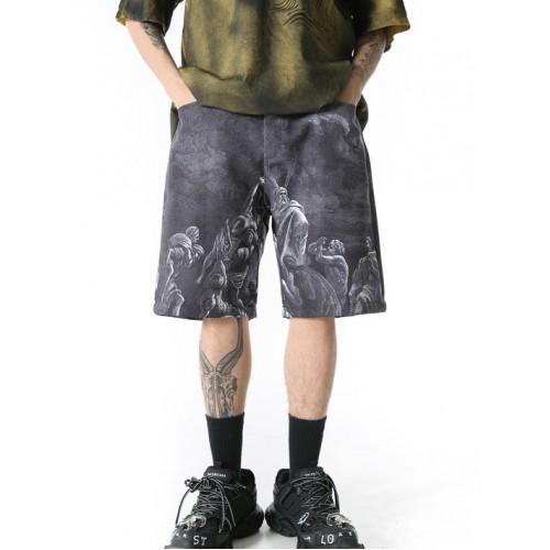 Loose Wide Leg Men Short Trousers
