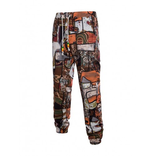 Chic National Print Plus Size Trousers For Men