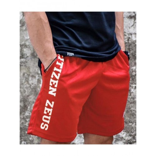 Quick-Dry Sporty Side Pocket Letter Short Trousers