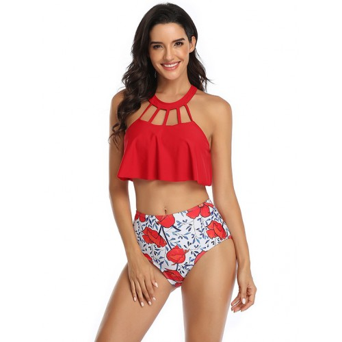 Hot Sale High Waist Print Bathing Suits